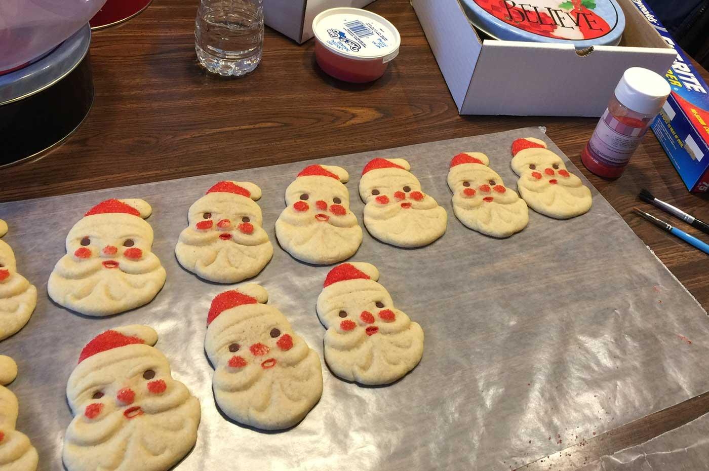 Generations of Santa Cookies