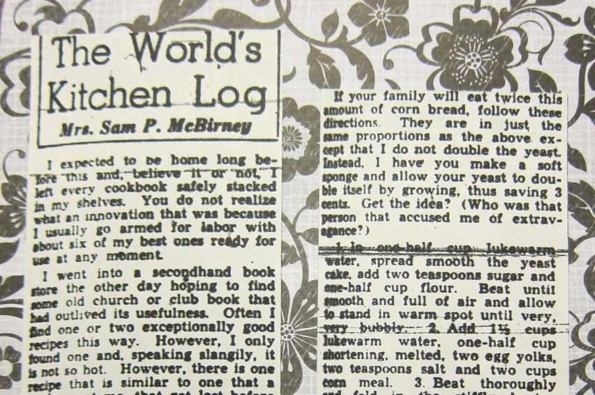 World's Kitchen Log