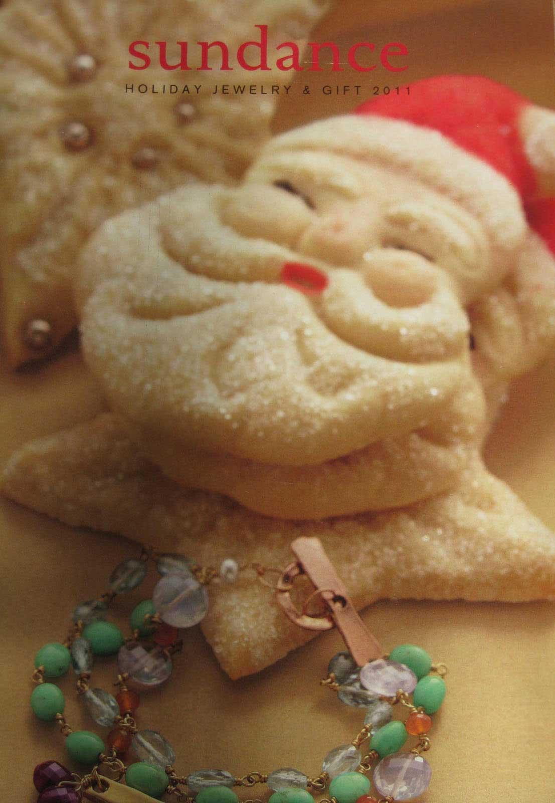 Sundance Catalog Aunt Chick's Jolly Santa Cookie Cover