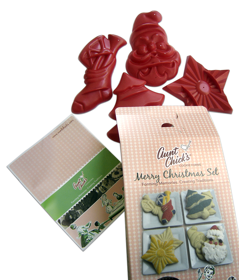 Aunt Chick's Merry Christmas Set Retail Box